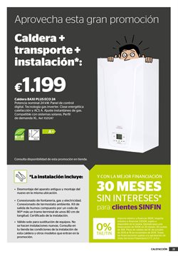 Ofertas de Caldera  en el folleto de AKI en Barcelona