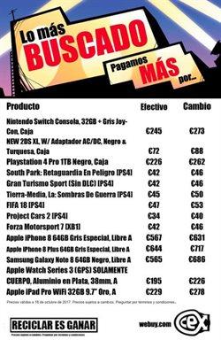 Ofertas de IPad  en el folleto de CeX en Madrid