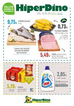 Ofertas de HiperDino  en el folleto de San Cristobal de la Laguna (Tenerife)