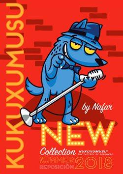 Ofertas de Kukuxumusu  en el folleto de Pamplona
