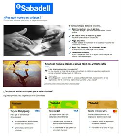Ofertas de Banco Sabadell  en el folleto de Castellón de la Plana