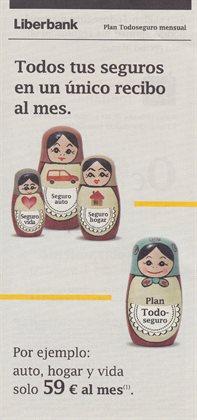 Ofertas de Bancos y seguros  en el folleto de Liberbank en Utebo