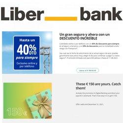 Ofertas de Bancos y Seguros en el catálogo de Liberbank ( 6 días más)