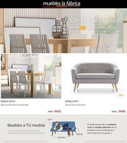 Ofertas de Muebles La Fábrica en el catálogo de Muebles La Fábrica ( 4 días más)
