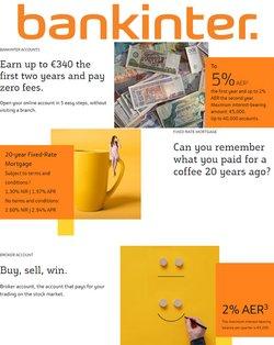 Ofertas de Bancos y Seguros en el catálogo de Bankinter ( Más de un mes)