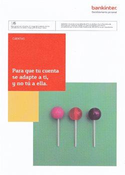 Ofertas de Bankinter  en el folleto de Madrid