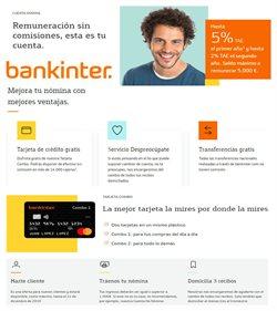 Ofertas de Bankinter  en el folleto de San Cristobal de la Laguna (Tenerife)