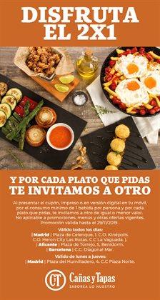 Ofertas de Cañas y Tapas  en el folleto de L'Hospitalet de Llobregat