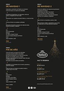 Ofertas de Mussol  en el folleto de Barcelona