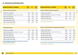 Ofertas de Rebajas  en el folleto de Correos en Madrid