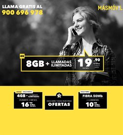 Ofertas de Tarifas móvil  en el folleto de MÁSmóvil en Sanlúcar de Barrameda