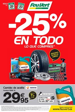 Ofertas de Coche, moto y recambios  en el folleto de Feu Vert en Valladolid