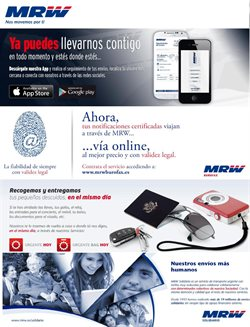 Ofertas de MRW  en el folleto de Zaragoza