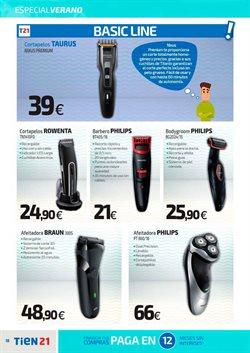Ofertas de Máquina de afeitar  en el folleto de Tien 21 en Madrid