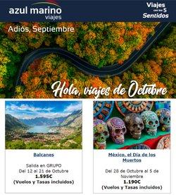 Ofertas de Viajes Azul Marino en el catálogo de Viajes Azul Marino ( 5 días más)