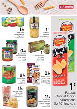 Ofertas de Patatas fritas  en el folleto de Supermercados El Jamón en Sevilla
