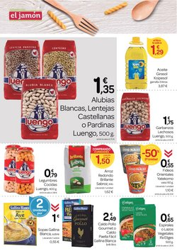Ofertas de Pasta en Supermercados El Jamón