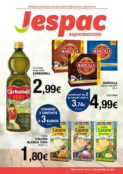 Ofertas de Marcilla en Supermercats Jespac