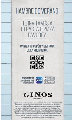 Ofertas de Ginos  en el folleto de Madrid