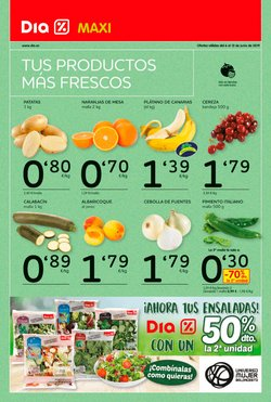 Ofertas de Plátanos  en el folleto de Maxi Dia en Madrid