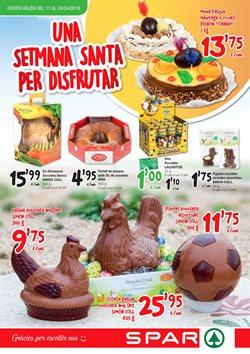 Ofertas de Pascua  en el folleto de SPAR Fragadis en Barcelona