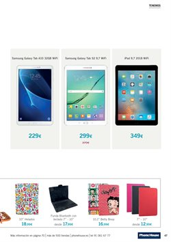 Ofertas de Tablet Samsung  en el folleto de Phone House en Madrid