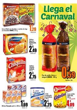 Ofertas de Galletas rellenas de chocolate  en el folleto de Unide Supermercados en Murcia