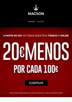 Ofertas de Ropa, zapatos y complementos  en el folleto de Macson en Roca del Vallés
