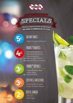 Ofertas de TGI Friday's  en el folleto de Madrid