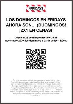 Catálogo TGI Friday's en Sevilla ( Más de un mes )