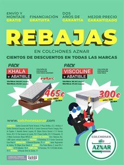 Ofertas de Hogar y Muebles  en el folleto de Colchones Aznar en Alcañiz