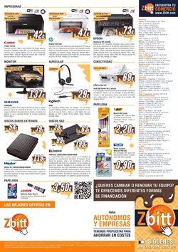 Ofertas de Material de papelería  en el folleto de Zbitt en Madrid