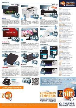 Ofertas de Toshiba  en el folleto de Zbitt en San Sebastián de los Reyes