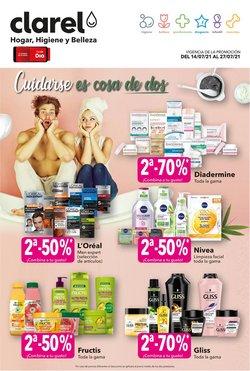 Ofertas de Perfumerías y Belleza en el catálogo de Clarel ( Caduca mañana)