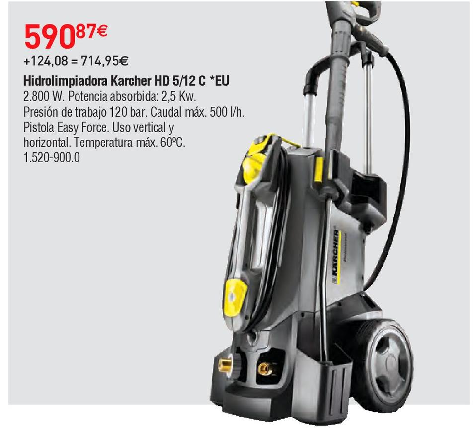 Oferta de Hidrolimpiadora Kärcher por 590.87€