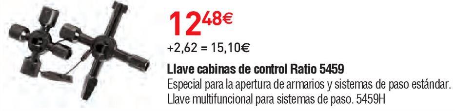 Oferta de Llave para cabina control Ratio por 12.48€