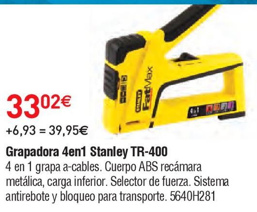 Oferta de Grapadora Stanley por 33.02€