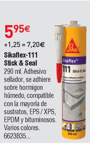 Oferta de Adhesivo de montaje sika por 5.95€
