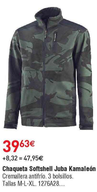 Oferta de Chaqueta softshell hombre juba por 39.63€