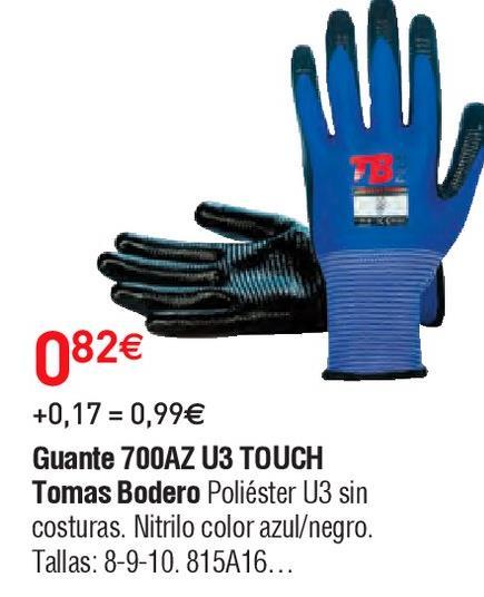 Oferta de Guantes de trabajo Touch por 0.82€