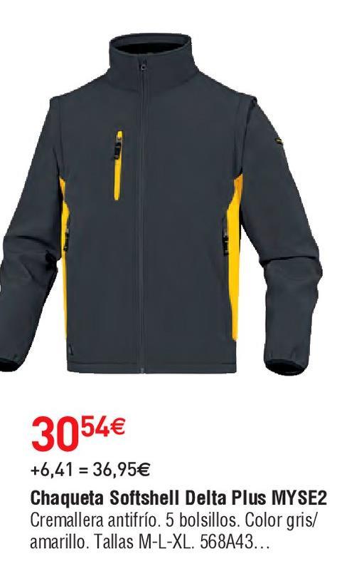 Oferta de Chaqueta softshell hombre por 30.54€