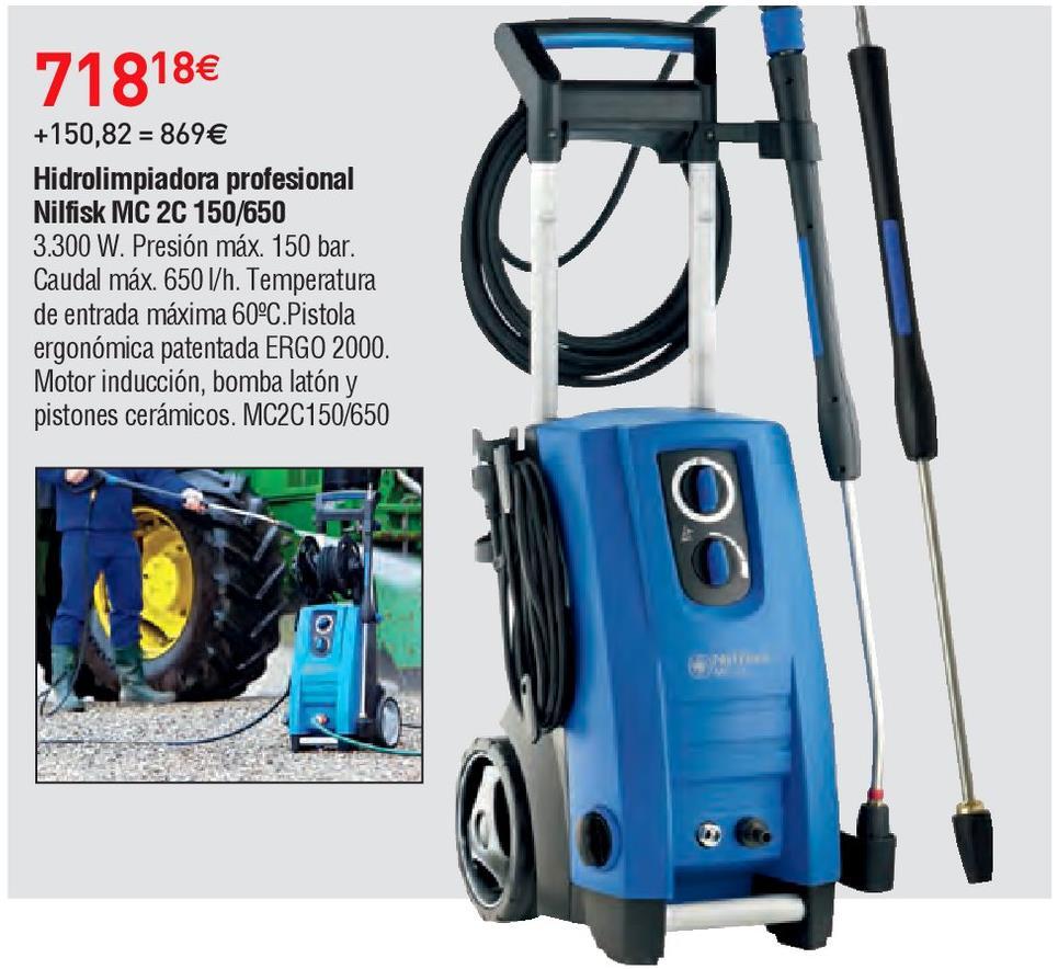 Oferta de Hidrolimpiadora Nilfisk por 718.18€