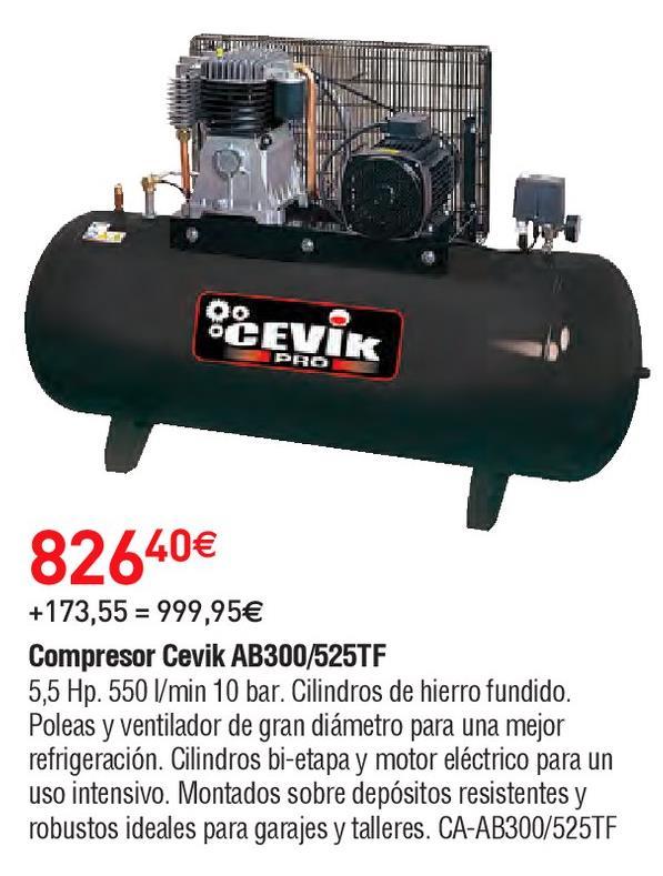 Oferta de Compresor de aire Cevik por 826.4€