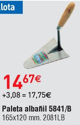 Oferta de Herramienta de mano Bellota por 14.67€
