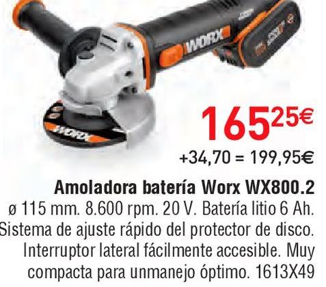 Oferta de Amoladora worx por 165.25€