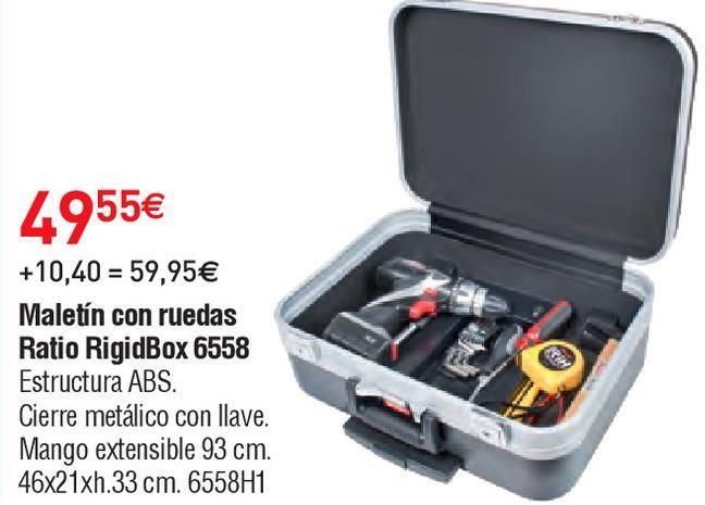 Oferta de Maletín de herramientas Ratio por 49.55€
