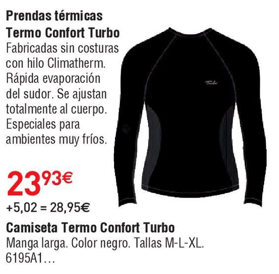 Oferta de Camiseta térmica Confort por 23.93€