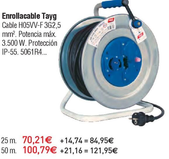 Oferta de Enrollacables tayg por 70.21€