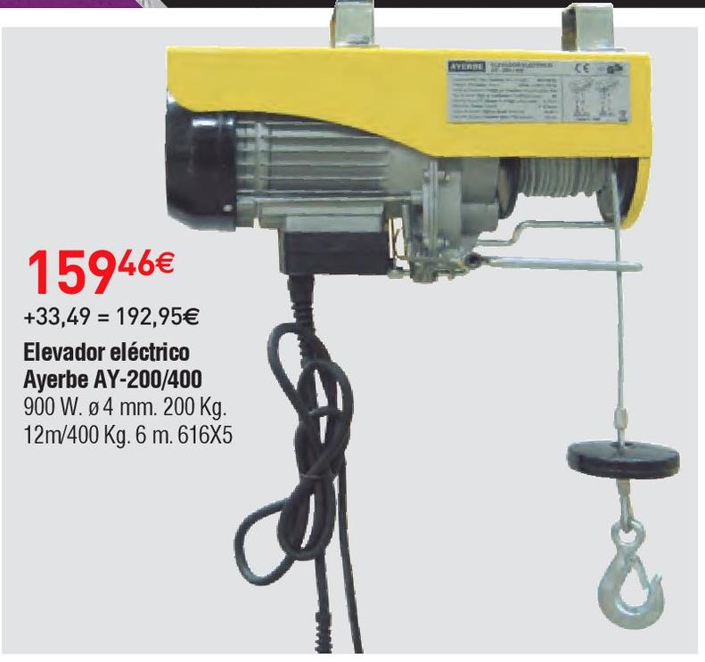 Oferta de Elevador eléctrico Ayerbe por 159.46€