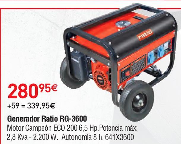Oferta de Generador Ratio por 280.95€